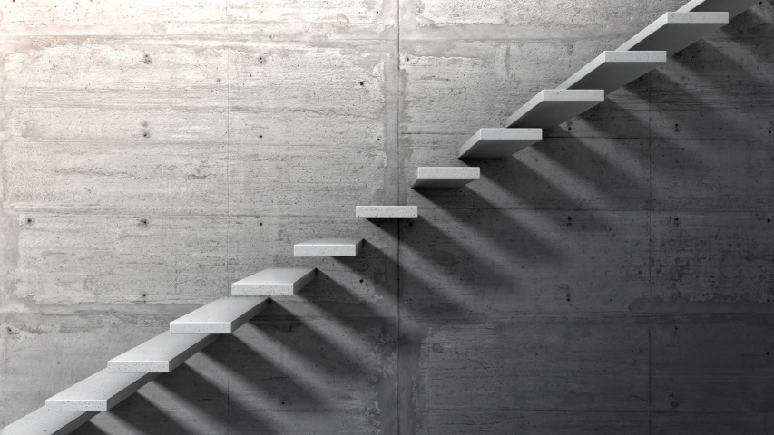 Side view of an endless staircase | Shutterstock HD Video #1032132455