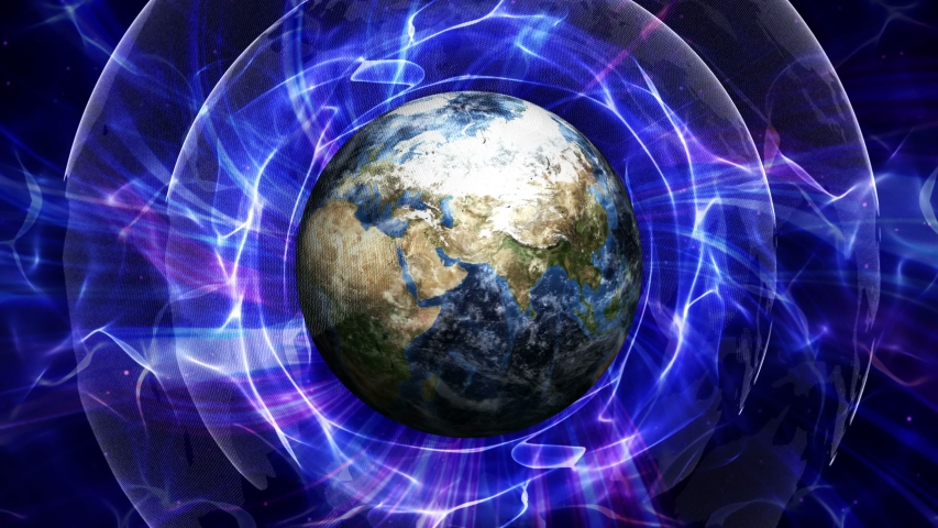 Earth in the Universe Field, Connections Network Concept, Animation Rendering, Loop, 4k    Shutterstock HD Video #1032187976