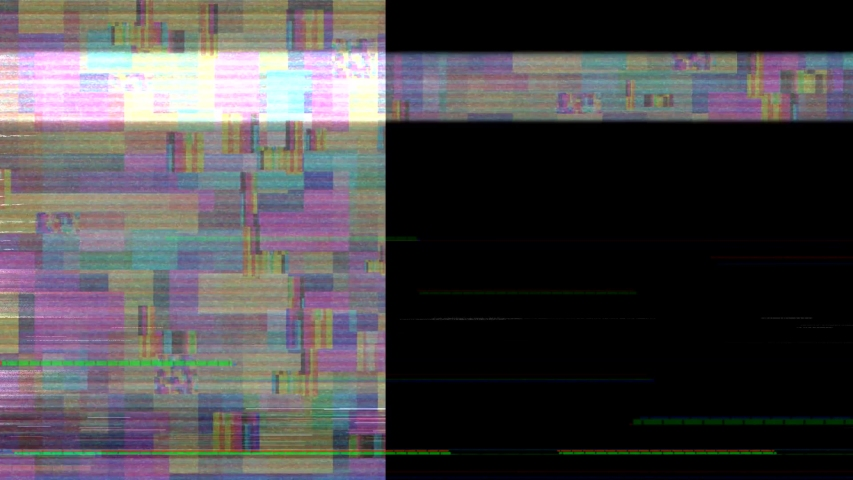 Glitch noise static television VFX. Visual video effects stripes background, tv screen noise glitch effect. Video background, transition effect for video editing, intro and logo reveals with sound. | Shutterstock HD Video #1032210857