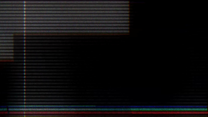 Glitch noise static television VFX. Visual video effects stripes background, tv screen noise glitch effect. Video background, transition effect for video editing, intro and logo reveals with sound. | Shutterstock HD Video #1032210887