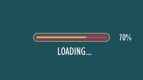Loading Bar Percentage Animation, Loading Bar Progress Cartoon, Loading Bar Upload Vector, Loading Bar Download Illustration