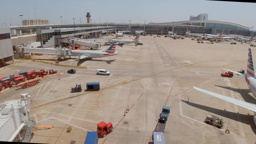 Dallas Fort Worth Airport airfield - DALLAS, TEXAS - JUNE 20, 2019