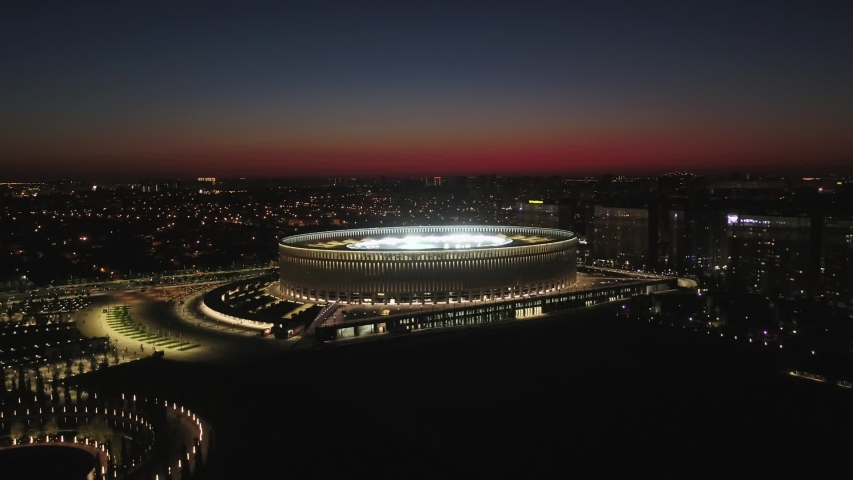 Russia, Krasnodar, August 18, 2018, the Krasnodar Stadium during the match with Spartak Moscow