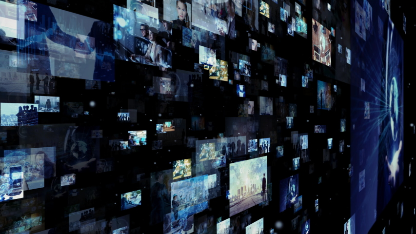 Social networking concept. Streaming video. Photo library. | Shutterstock HD Video #1032355283