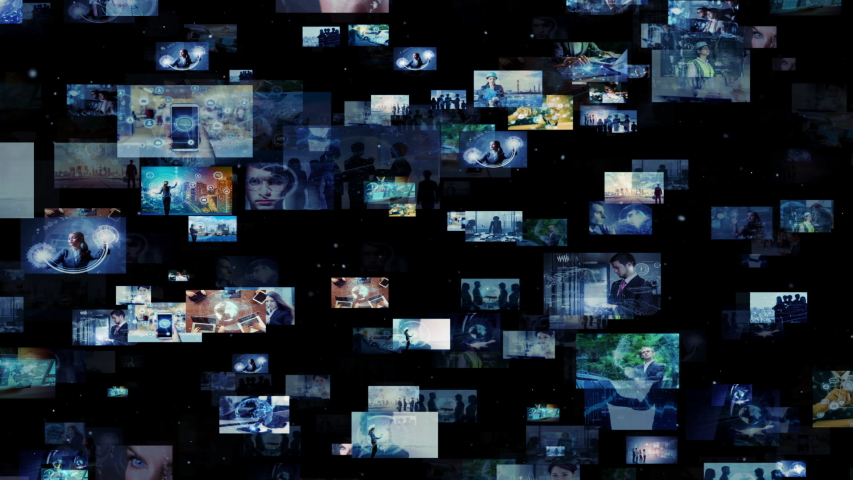 Social networking concept. Streaming video. Photo library. | Shutterstock HD Video #1032355325