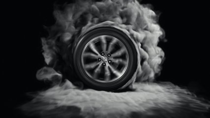 Wheel Drift Animation 4k Video 3d Car Wheel Drift with Smoke Footage