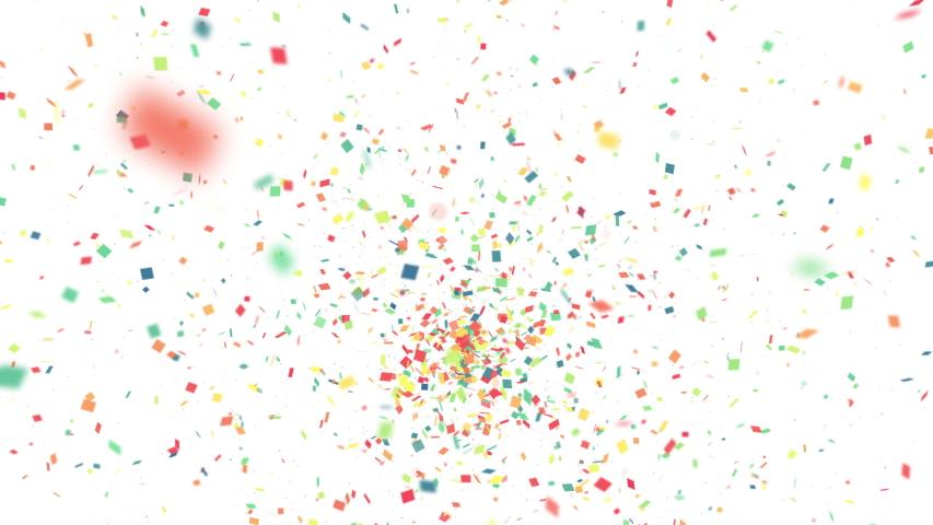 Confetti explosion concept. Ticker tape. Party. Event. Celebration.   Shutterstock HD Video #1032426644