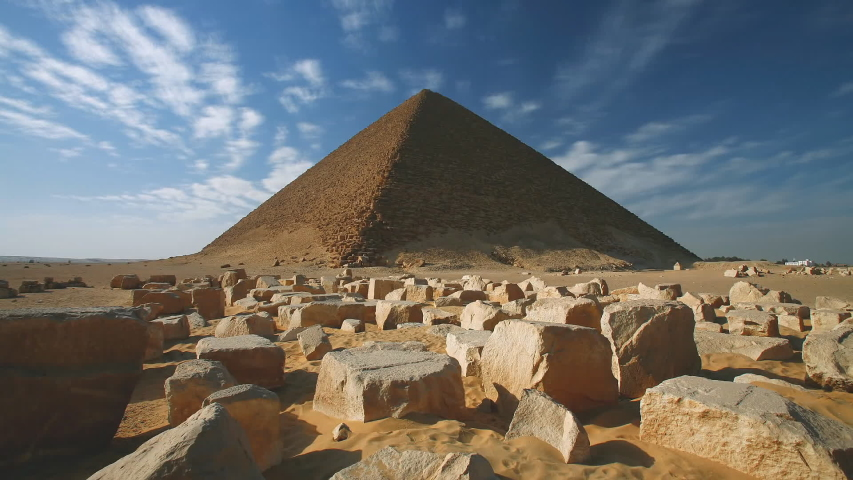 Egypt, the valley of the giza, a view of the pyramid of Cheops (time-lapse)   Shutterstock HD Video #1032432806