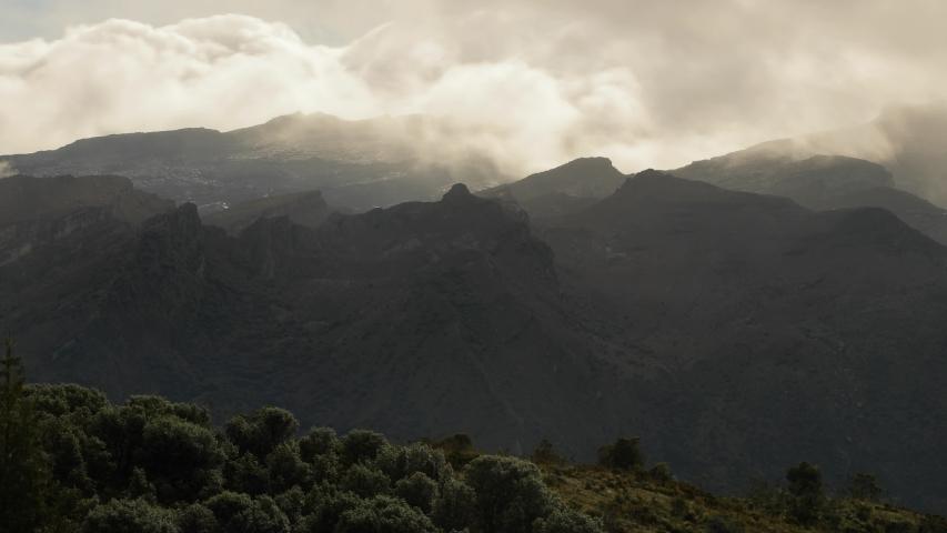 Mountain landscape timelapse moving clouds in Colombia, Sierra Neveda del Cocuy | Shutterstock HD Video #1032472133