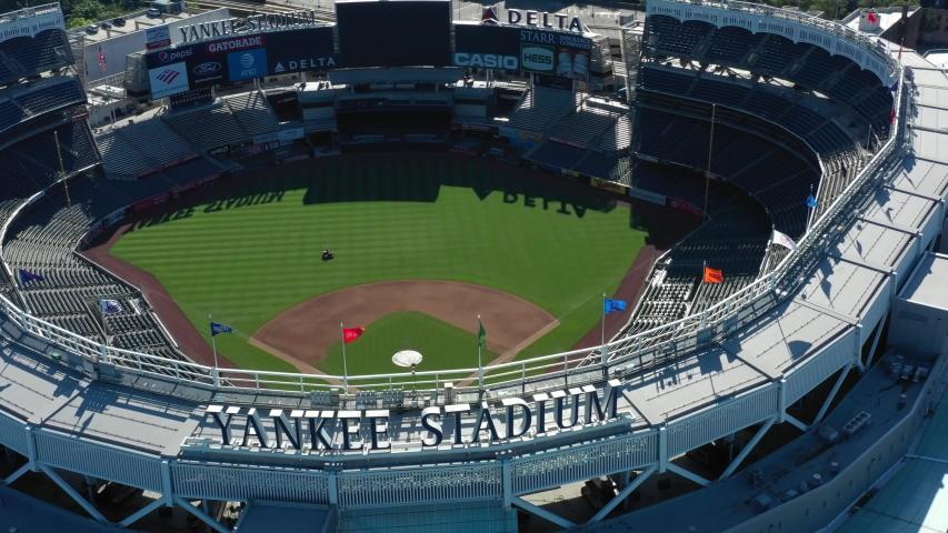 BRONX NY, USA - JUNE 21, 2019: New York Yankee Stadium 4k