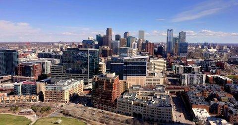 Denver Colorado Skyline & Cityscape by Aerial Drone
