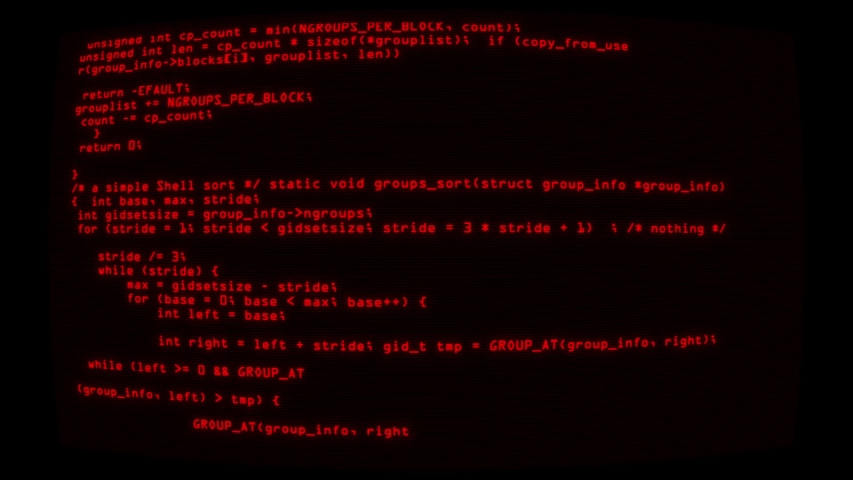 Red Hacker Text Code on Screen Graphic Element Background   Shutterstock HD Video #1032549530