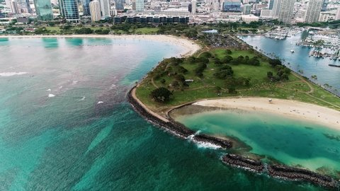Beautiful Island With Dolphin Fin Stock Footage Video 100 Royalty Free 1028824391 Shutterstock
