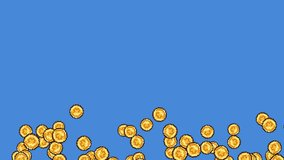 Set Of Exploding 8-Bit Videogame Coins. Ideal For Your Gaming / Money projects. High-Quality Animation, 4K,60fps