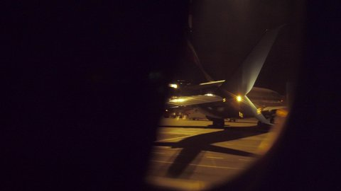 Airplane Window View Night Stock Video Footage 4k And Hd Video