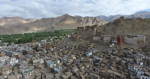 Leh Palace is a former royal palace overlooking the Ladakhi Himalayan town of Leh. A precursor to the Potala Palace in Lhasa, Tibet, the palace was built by King Sengge Namgyal in the 16th century.