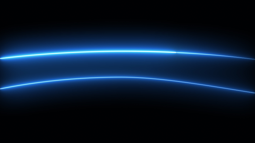 Abstract blue flare light moving background.Glow line moving on dark background.Technology beam light  concept