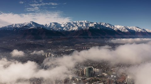 Aerial View Of Santiago Of Stock Footage Video 100 Royalty Free 1032777698 Shutterstock