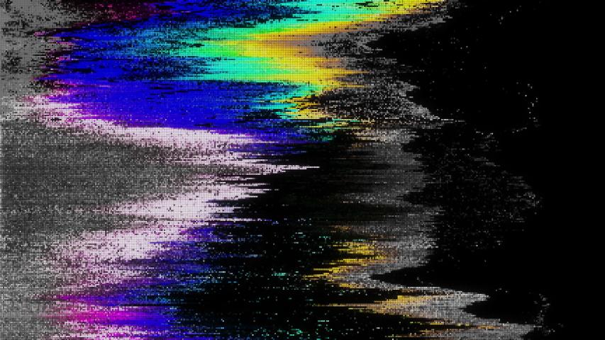 Unique Design Abstract Digital Animation Pixel Noise Glitch Error Video Damage | Shutterstock HD Video #1032780623