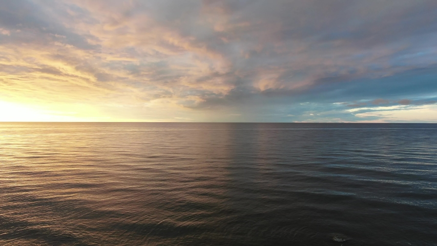 Beautiful sunset over the sea. Shot on drone | Shutterstock HD Video #1032780818