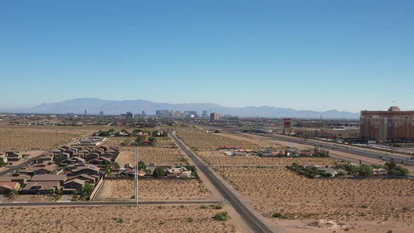 Drone Flight Over Las Vegas Nevada Suburbs