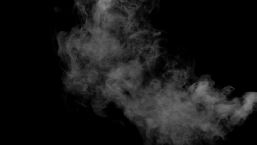 The water spray steam or smoke motion isolated on black background ,slow motion movement #1032865154