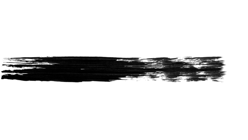 Set of 21 animated paint brush strokes. Abstract 4k UHD black and white templates for masks.