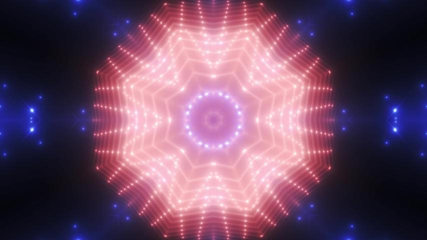 FLOOD LIGHT MULTICOLORED FLASHING SPOT LIGHT. WALL STAGE LED BLINDER BLINKING BLUE RED. CLUB CONCERT DANCE DISCO DJ BUSINESS BEAM DMX FASHION KALEIDOSCOPE LIGHT TUNNEL. SEAMLESS LOOP. 4K. VJ #1032894992
