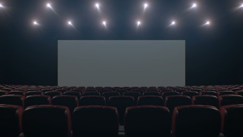 Movie Theatre With A Green Stock Footage Video 100 Royalty Free 3845792 Shutterstock
