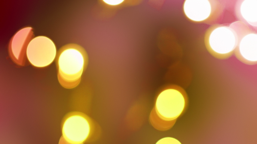 Rose Gold abstract blurred Christmas lights bokeh background in 4K | Shutterstock HD Video #1032988931