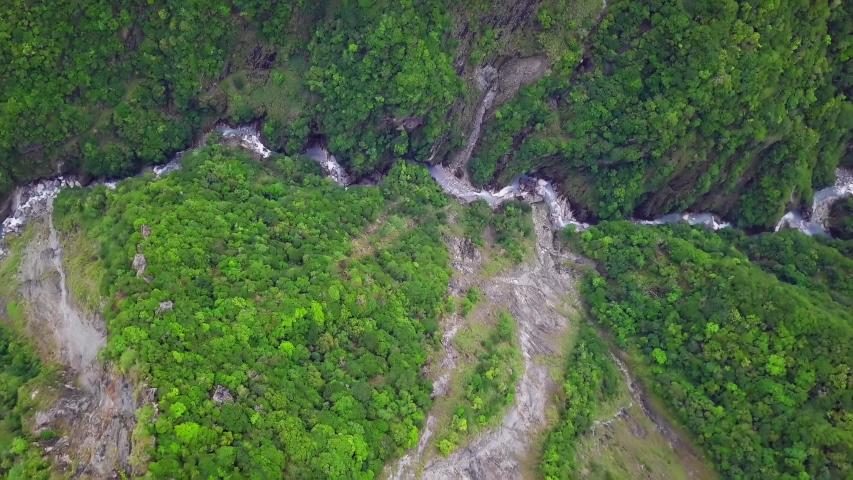 Taroko Gorge National Park in Taiwan. Aerial View | Shutterstock HD Video #1033008953