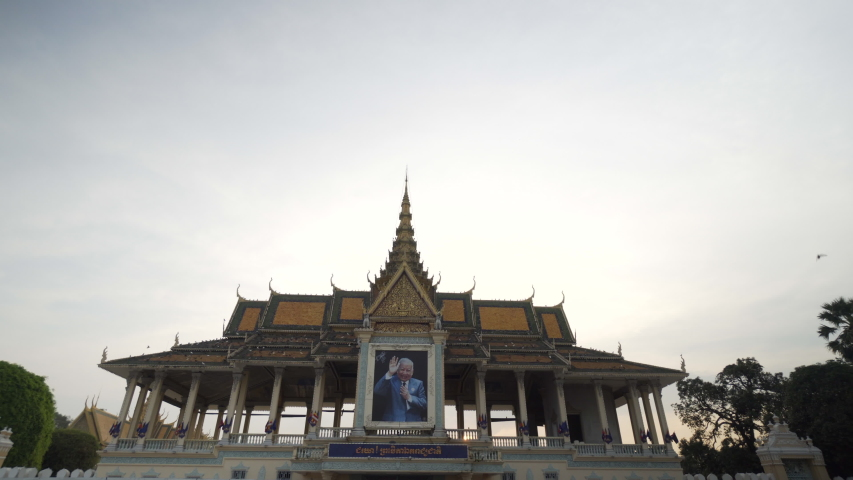 phnom penh, kandal / Cambodia - 01 28 2018: Royal Palace in Phnom Penh