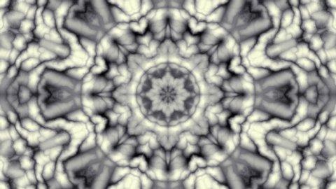 Spinning abstract magic circle. Esoteric cosmic mandala. Simply ornamental mandala. Loop footage.