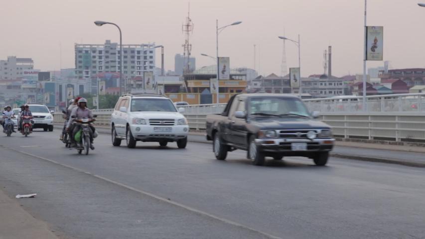 phnom penh, Kandal / Cambodia - 05 04 2016: Traffic in Phnom Penh, Cambodia