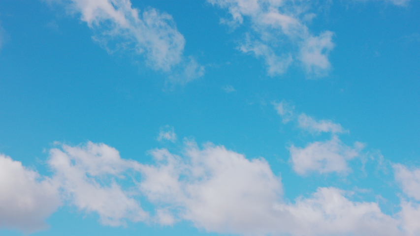 White clouds floating in the blue sky. #1033189544