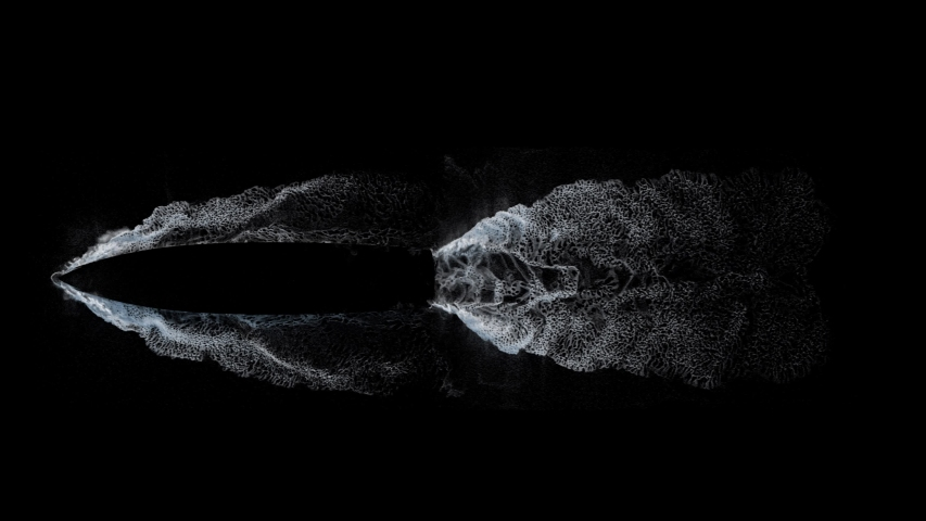 Ship wake trail seamless loop texture with alpha, top view, isolated on black | Shutterstock HD Video #1033191782
