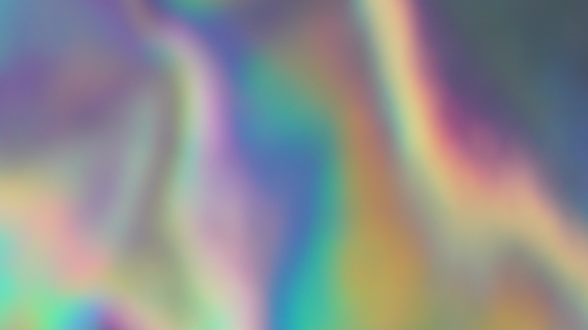 The rainbow sheen. Holographic background. Vibrant neon pastel texture. Hologram glitch for web design. Gradient moving | Shutterstock HD Video #1033204268
