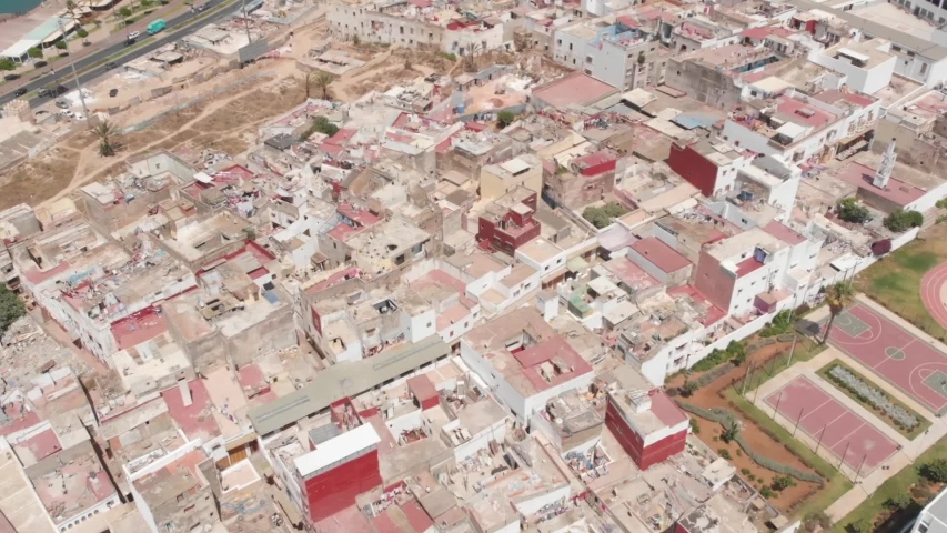 Aerial view of the city of Rabat-Rabat in morocco