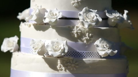 Wedding Cake With Cake Toppers Stock Footage Video 100 Royalty Free 5905634 Shutterstock