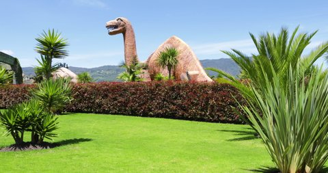 Bogota, June 27   dinosaur reproductions in the family amusement park named Duque built in 1983 in Bogota  and visited by millions of people every year. Shoot on June 27, 2019