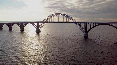 Queen Alexandrine Bridge Straight Shot From Drone