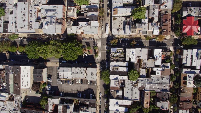 Philadelphia Pennsylvania Aerial v39 Vertical view of Society Hill neighborhood - October 2017 Royalty-Free Stock Footage #1033380311