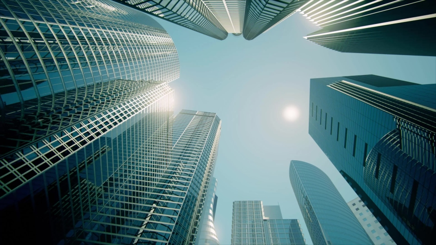 Skyscrapers, Business Buildings, Business Center (graded) Royalty-Free Stock Footage #1033441799
