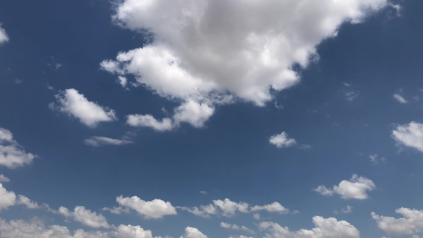 SeriesSKY CLEAR beautiful cloud Blue sky with clouds 4K sun Time lapse clouds 4k rolling puffy cumulus cloud relaxation weather  | Shutterstock HD Video #1033444580