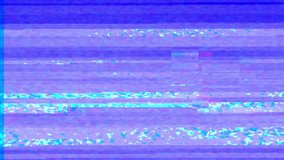 Abstract digital glitch art animation effect. Retro futurism wave style. Video signal damage with pixel noise and error interference