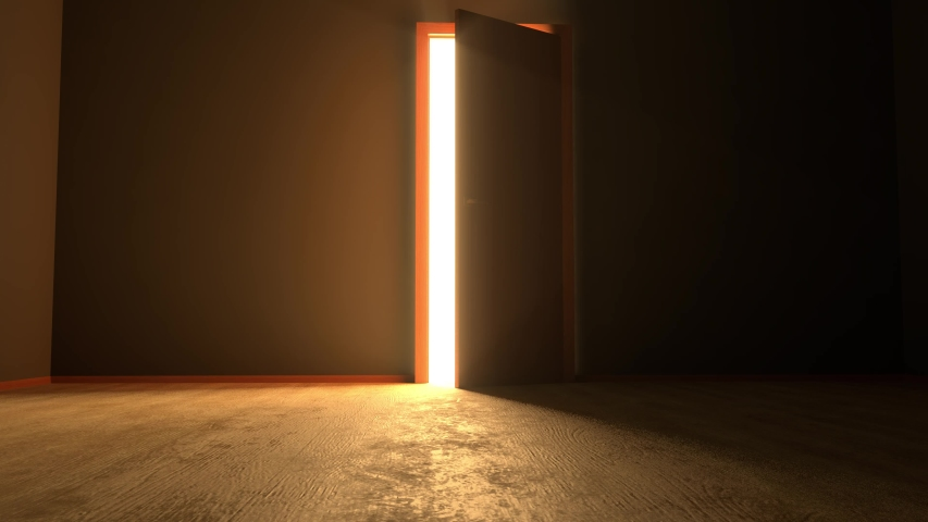 4k,Door opening to the future,Door opening to the hope | Shutterstock HD Video #1033535666