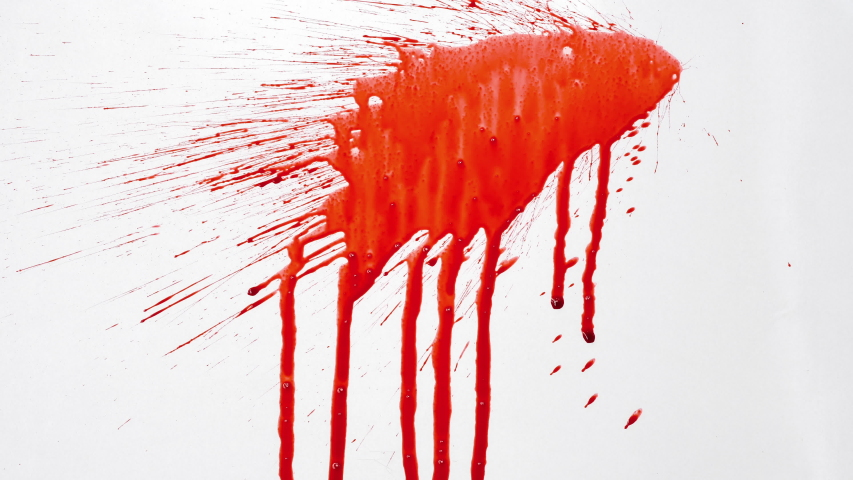 Blood splash on white background  | Shutterstock HD Video #1033535774