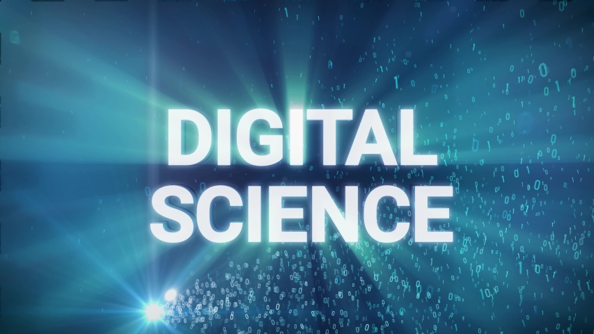 Seamless looping 3d animated digital maze with the word Digital Science in 4K resolution | Shutterstock HD Video #1033550663