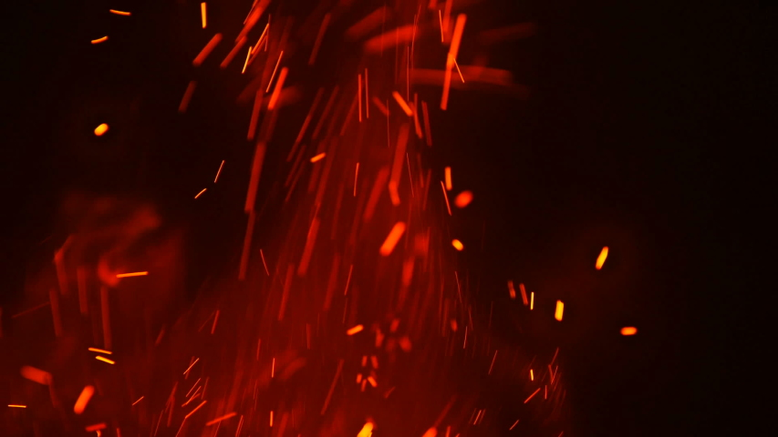 Red gire sparks at night | Shutterstock HD Video #1033634618
