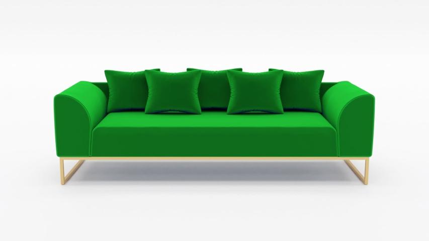 Green Modern Sofa Rotation isolated | Shutterstock HD Video #1033727453